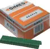 Simes R0111318 Boîte de 1000 Agrafes 18-Vert