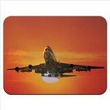 Grande Areoplano volante al tramonto tappetino per il mouse in gomma di ottima qualità, morbido e confortevole