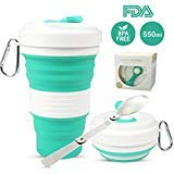 Portable Collapsible Coffee Cup, Lightweight and Reusable Folding Travel Cup, Food Grade Silicone