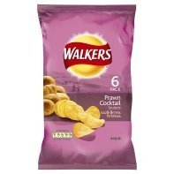 Walkers Prawn Cocktail Crisps 6 Pack 150g by N/A