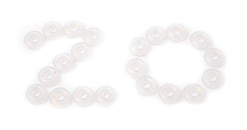 20x transparent Gummi Ring für Charms stoppen, und Charm-Armbänder (Pandora) (Pro Schmuck Pandora Armband)