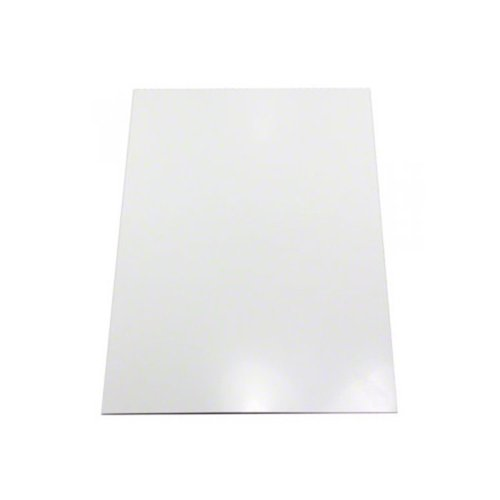 Eisen-blatt (First4magnets F4MFFA4GW-1 Glanz weiß Flexible A4 Eisen-Blatt, 1 Packung, Metall, 297 x 210 x 1 mm)