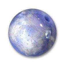 Perles & Co Redonda de lentejuelas 20 mm Azul x1