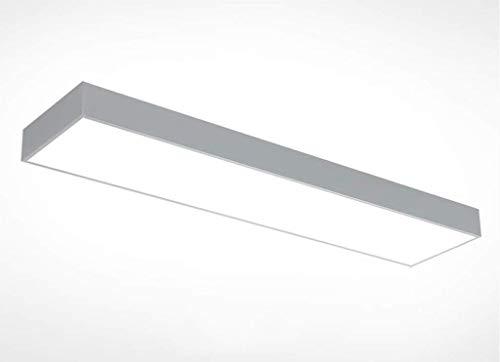 Oudan Führte Büro-einfaches Decken-Material-Aluminiumrechteckmoderne Leuchtstoff Schreibtisch-Lampen-Streifen-Lampe 2835 weißes Licht-Art- und Weisechip (Farbe: Schwarzes, Größe: 60 * 30Cm) (Leuchtstoff Schwarz Licht)