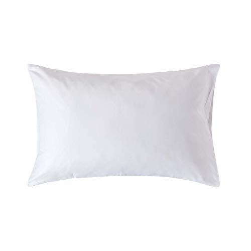 Homescapes Kissenbezug 48 x 74 cm - 100% Bio-Baumwolle Fadendichte 400 Perkal - Kissenhülle mit Hotelverschluss - weiß -