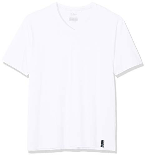 s.Oliver Big Size Herren 15.808.32.4027 T-Shirt, Weiß (White 0100), XXXX-Large