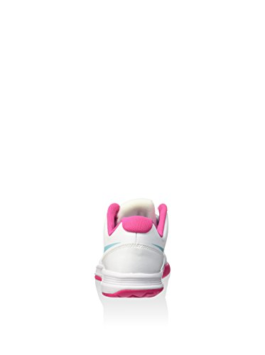 Nike Vapor Court (Gs), Scarpe da Tennis Bambina Bianco/azzurro/rosa (White/Copa-Vivid Pink)