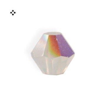 I-Beads Swarovski-Perlen 5328 xilion bikone weiß Opal AB 4mm (40)