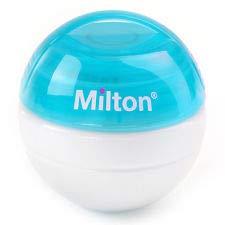 Milton Tragbar Schnuller Sterilisator + 10 Mini Sterilisieren Tabletten Gratis !! (Blau) (Sterilisieren Tabletten)