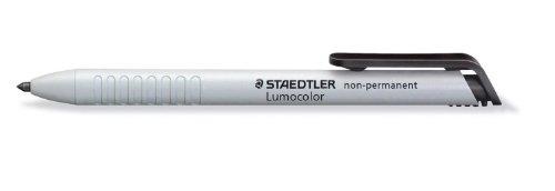 Staedtler 768N Lumocolor non-permanent omnichrom Trockenmarker wasserlöslich, 3,0mm, schwarz