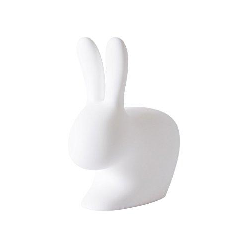 Qeeboo Rabbit Sedia, Bianco, 68.8x39.5x80 cm
