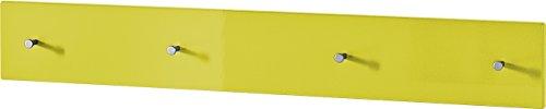 Germania 3452-197 Garderobenpaneel Colorado in Gelb Hochglanz, 106 x 15 x 5 cm (BxHxT)