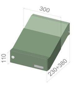 D-041 – Edelstahl Mauerdurchwurf Briefkastenanlage (variable Tiefe) mit Namensschild – Letterbox24.de - 4