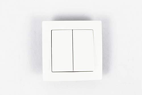 Interruptor de pared inalámbrico,empotrable blanco (2 interruptores)