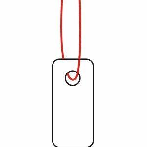 Herma 6901 Hänge Etiketten (7 x 15 mm) Karton weiß mit Faden weiß, 1.000 Anhängeschilder, Preis Schilder