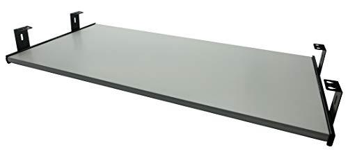 FIX&EASY Tastaturauszug mit Tastaurablage 600X300mm Weiß Dekor, Auszugschienen schwarz 300mm, Set Ablage mit Auszug für Tastatur Maus Keyboard Laptop