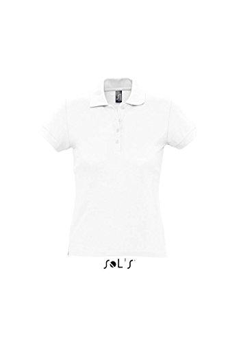 Sols - Passion - Damen Poloshirt Kurzarm , White , S S,White