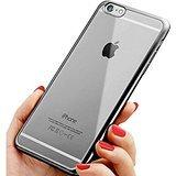 iPhone 6/6S Fall, TNI 2016Stilvollen Chrom Farbe Bumper mit Transparent Cover Rückseite iPhone 6/6S Fall, Chrome Gun Metal Chrome Iphone Fall