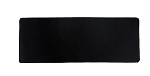 Woodlandu gro? Gaming Mouse Pad Wasserdicht Gen?hte Kanten Geschwindigkeit seidiger Oberfl?che rutschfeste Gummiuntermatten 300x800x3mm/11.8x31.5x0.12inch Schwarz Edges