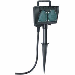 Brennenstuhl Gartensteckdose mit Erdspieß IP44 1,5m H07RN-F 3G1,5 2x 230V/16A