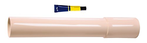 Verlängerungsrohr für Spülkasten | 300 mm | Mit Kleber | Kunststoff | Tiefspülkasten | WC, Toilette | Beige