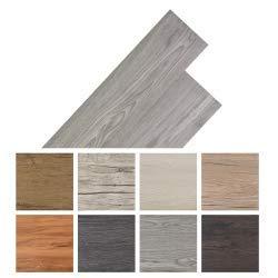 vidaXL Self-adhesive PVC Flooring Planks 5.02m² 2mm Dark Grey Home Floor Tile