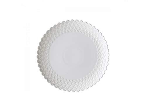 La porcelana blanca Set de 6platos postre diam. cm.. 18, adecuados al lavado en el lavavajillas y usar en el microondas.