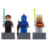 Lego Star Wars 3er Magnete Set Ahsoka, Senate Commando, Anakin Skywalker | verklebt