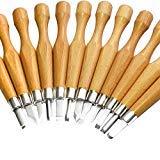 Kincrea ciseau à bois en acier carbone SKS7 12pcs outil de gravure kit avec housse...