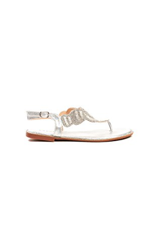 bdfab1e82fe0ad Ikrush Womens Zania Diamante Embellished T-Bar Sandals Size Silver UK 6