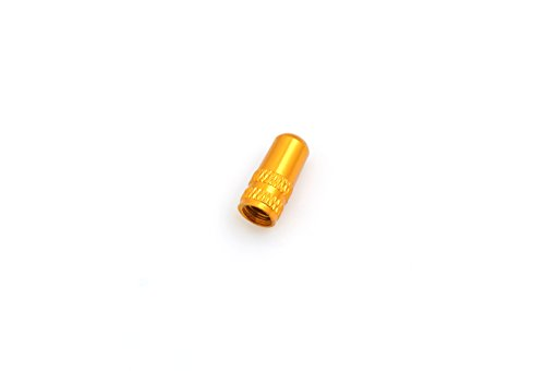System-S Ventilkappe Presta Sclaverand-Ventil Fahrrad Ventil Kappe aus Aluminium Farbe Gold (Aluminium-kappe)