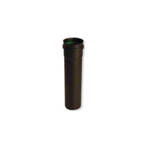 Rallonge téléscopique noir mat 60-240 mm avec joint silicone diamètre 80 Gamme APOLLO pellets concentrique réf 891708