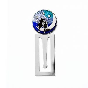 cats-on-moon-enamelled-silver-plated-bookmark-by-celtic-lands