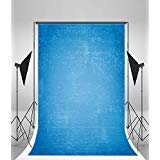 Laeacco Vinyl 5x7ft Photography Background Plain Blue Wall Paper Backdrops Personal Art Portraits Shooting Video Studio 1.5x2.2m