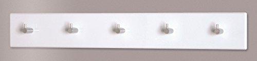 4er Garderobenleisten Set in weiß-chrom aus MDF