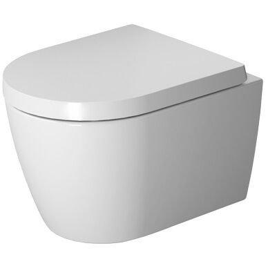 Duravit Wand-WC ME by Starck Compact 480 mm Tiefspüler, rimless, rafix, weiß HygieneGlaze, 2530092000