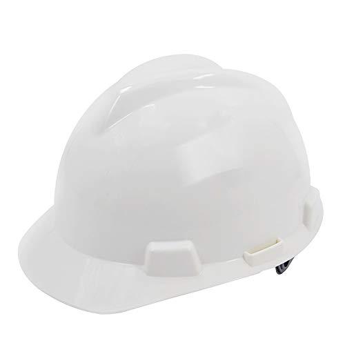 CXQBYNN Casco Antinfortunistica Cappuccio, Elmetto di Protezione in Loco Ventilato, Cappuccio Regolabile con Mento, Multi-Colore Opzionale (Color : White)