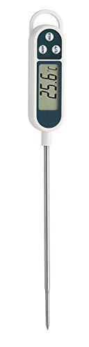 TFA Dostmann 30.1054 digitales Einstichthermometer (grau mit Clips für Temperaturfühler)