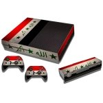 RISHIL WORLD Iraqi Flag Pattern Decal Stickers for Xbox One Game Console