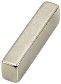 Magnet Expert® F329-1 42 x 8 x 10 mm d'épaisseur-Aimant néodyme n42-14 kg d'attraction (Paquet de 1), Argent