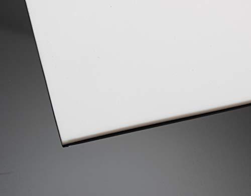 PTFE Teflon Platte 200x200mm Weiß in 6 Stärken von 0,5-5mm auswählbar (Materialstärke 1,0mm) 0.5-platte