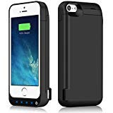 iPosible 4500mAh External Rechargeable Battery Charging Case Pack for iPhone 5/5S/5C/SE