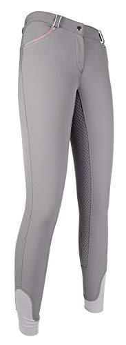 HKM Erwachsene Reithose-Black und White-Silikon-Vollbesatz9500 Hose, 9500 grau, 38