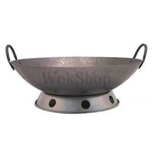 14 inch Carbon Steel Hand Hammered Wok (incl. wok ring) by Wok Shop Hand Hammered Wok