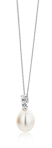Miore Damen Halskette 9 Karat (375) weißgold rhodiniert Zirkonia - 6