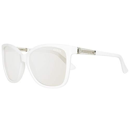 Guess Damen GU7456-5821C Sonnenbrille, Weiß (White), 58