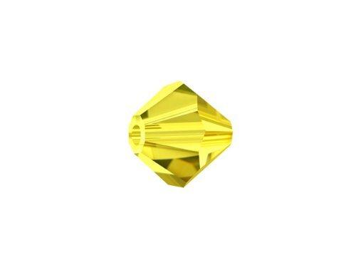 Swarovski Crystal 5328 6mm XILION Citrine Crystal Bicones - by Crystal Passions - Crystal Bicone 6mm Swarovski