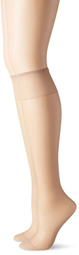Hanes Silk Reflections Women's Knee High Reinforce Toe 2 Pack