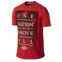 Nike Herren T-Shirt Jordan AJ One Nation Above All Zoll, Gym Red/Black, L -