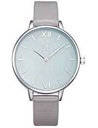 SHENGKE shengke señoras Reloj de Pulsera Creativas Mujeres Relojes Marca Reloj Mujeres Malla Vestido Reloj (K0056L Grey)